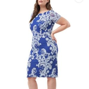 NEW JS Collection Embroidered Shift Dress 8